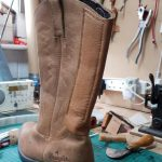 modified leather cowboy boot